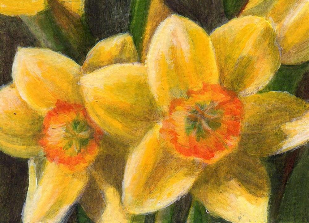 """Spring Greeting"" original fine art by Debbie Shirley"