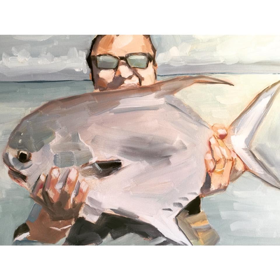 """""""645 Chef's Catch"""" original fine art by Jenny Doh"""