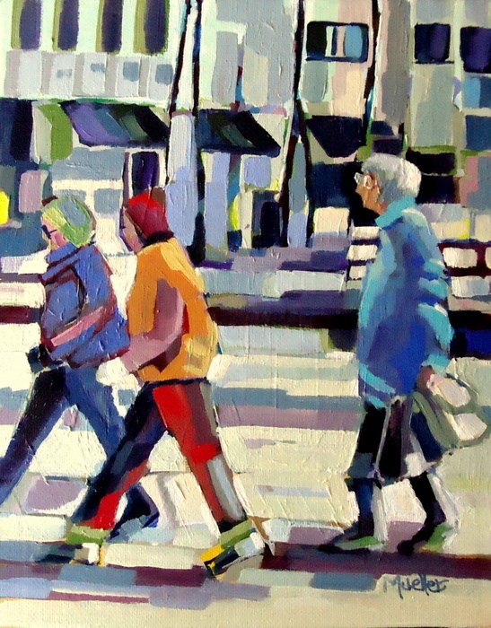 """""""Her Own Pace"""" original fine art by Laurie Mueller"""