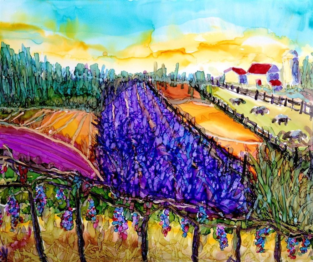 """""""Lavender Fields"""" original fine art by Kristen Dukat"""