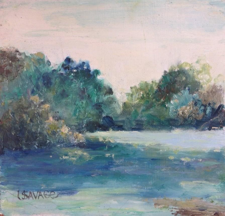 """A Calm Place"" original fine art by Judy Usavage"