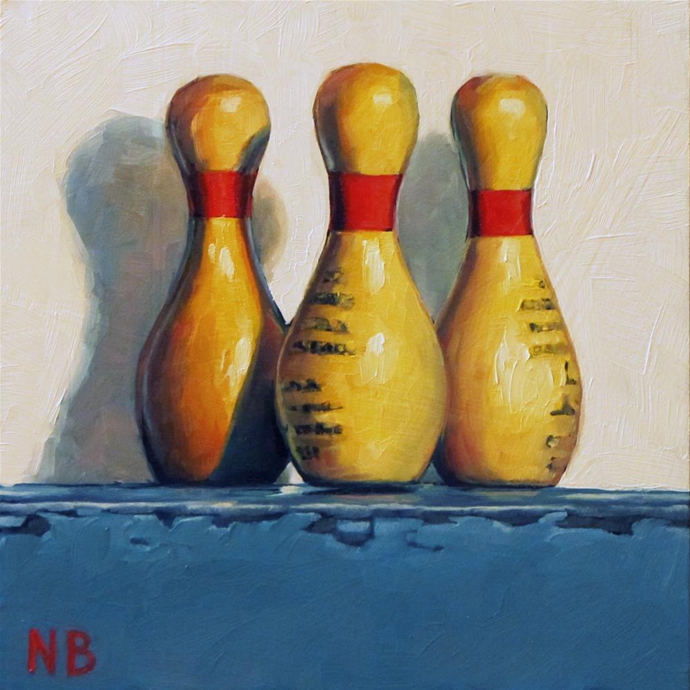 """Ina's High Scores"" original fine art by Nora Bergman"
