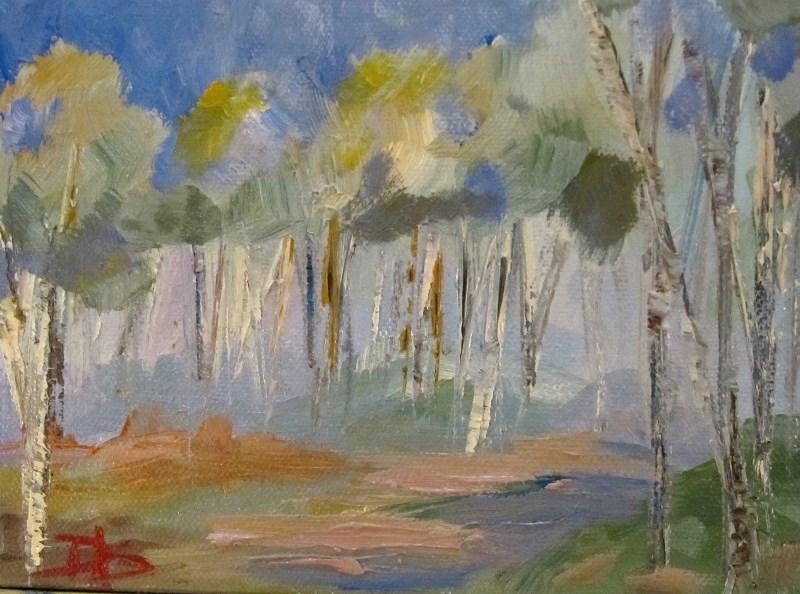 """Blue Morning"" original fine art by Delilah Smith"