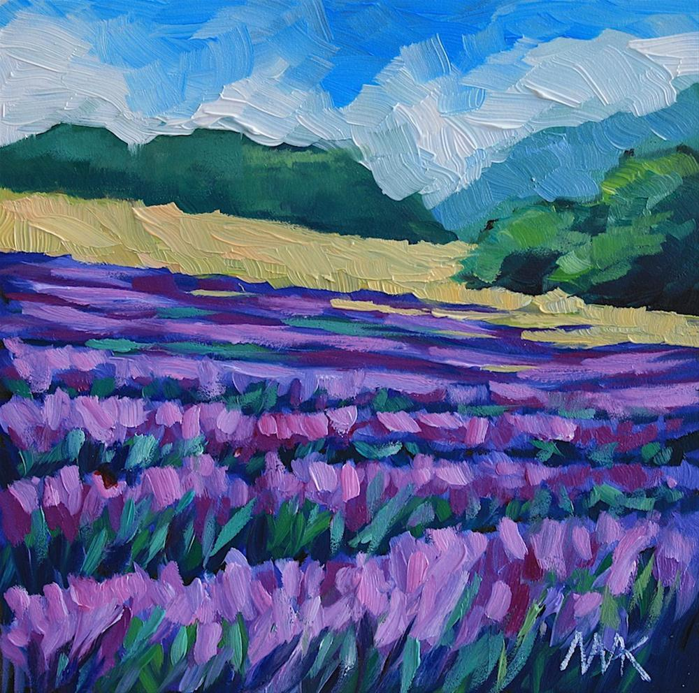 """Lavender Field 2"" original fine art by Mary Anne Cary"