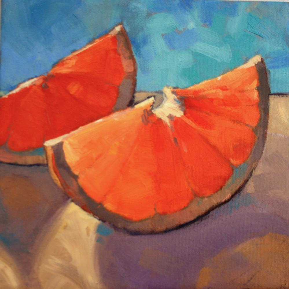"""Sunny Morning Orange"" original fine art by Jane Robertson"