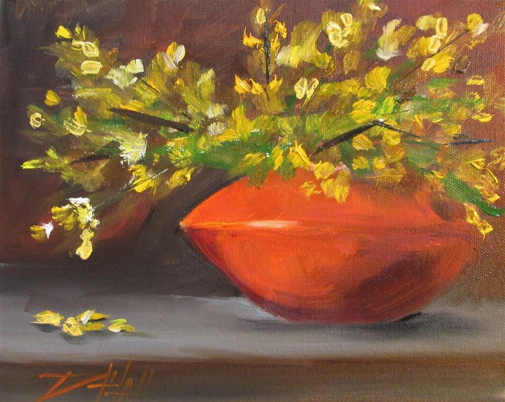 """Honeysuckle"" original fine art by Delilah Smith"