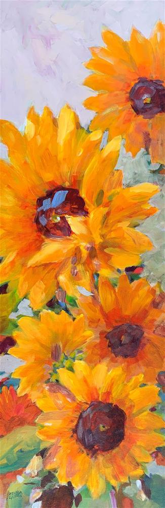 """Sunflowers Hanging Out"" original fine art by Melissa Gannon"