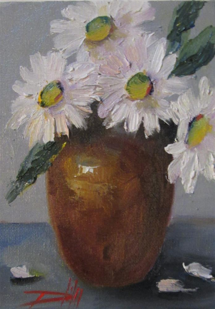 """Gerber Daisy No. 2"" original fine art by Delilah Smith"