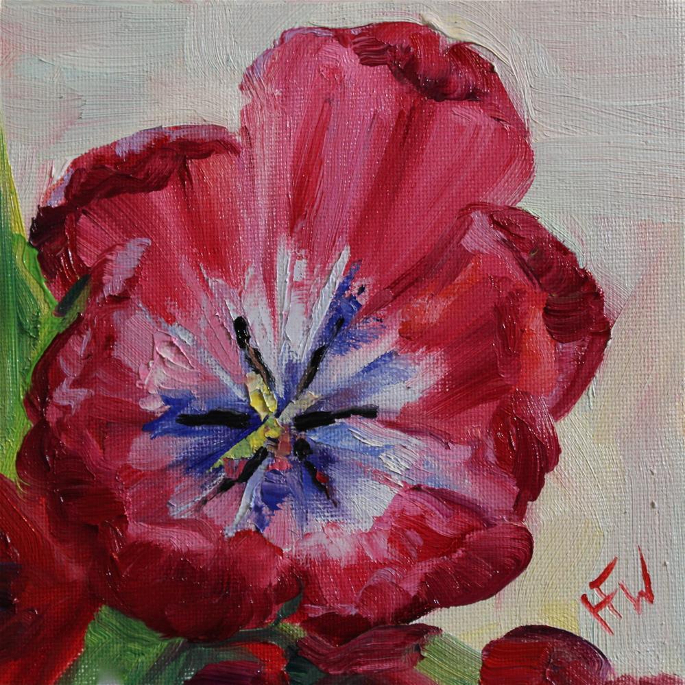 """""""Valentine's Tulip"""" original fine art by H.F. Wallen"""