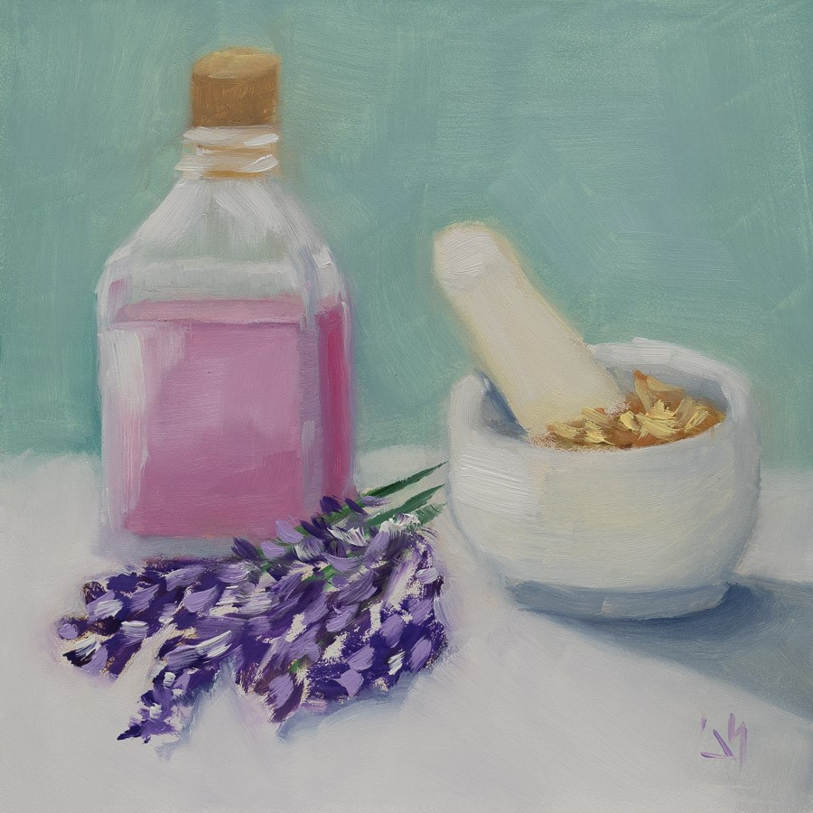 """Ahhh Lavender"" original fine art by Johnna Schelling"