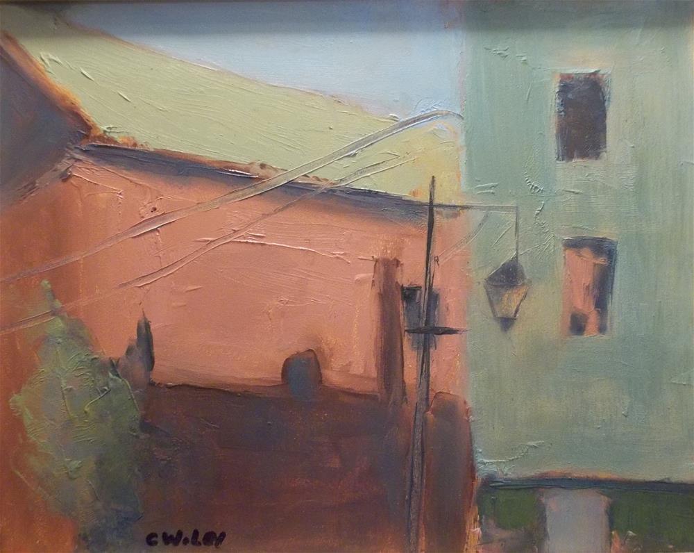 """""""Bath House"""" original fine art by Carol Wiley"""