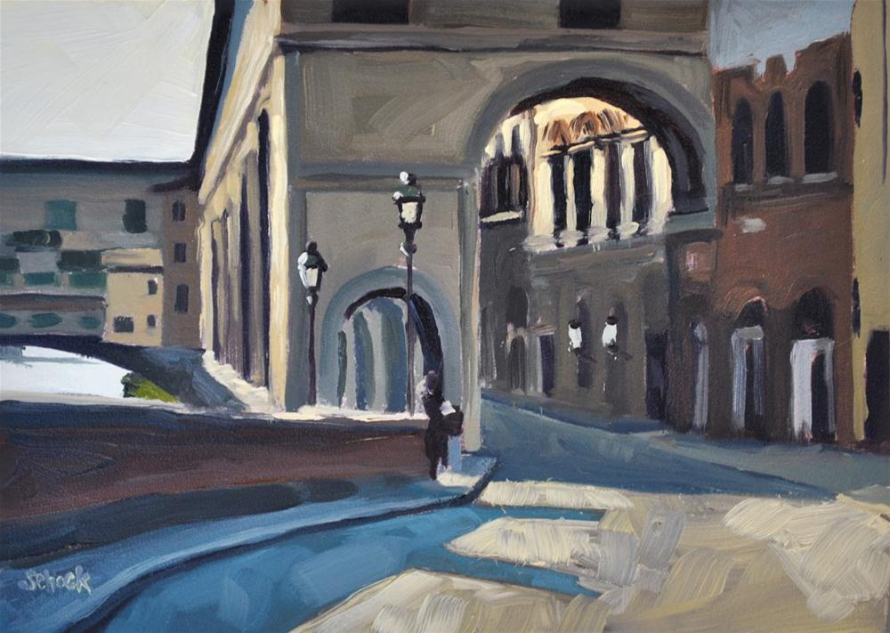 """Along the Arno - 5x7"" original fine art by Sharon Schock"