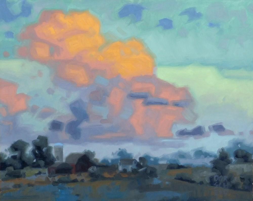 """""""Billowing Clouds at Dusk"""" original fine art by Les Dorscheid"""