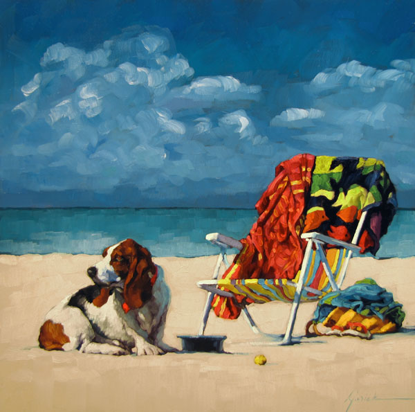 """Dog Day Afternoon"" original fine art by Karin Jurick"