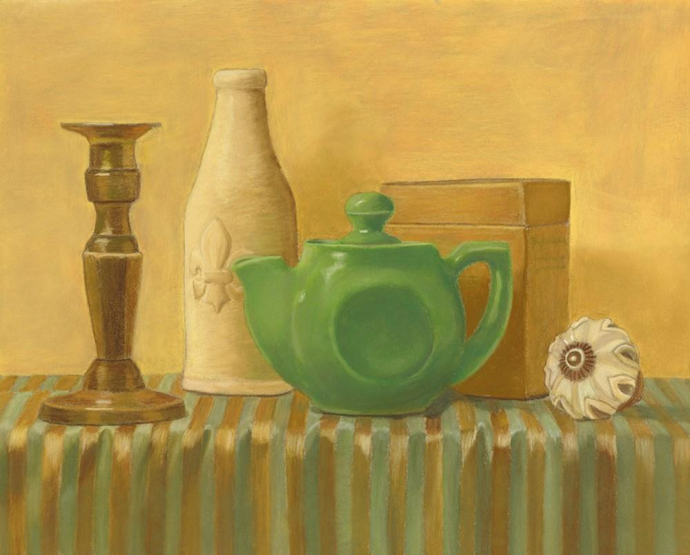 """""""The Green Teapot"""" original fine art by Susan Fern"""