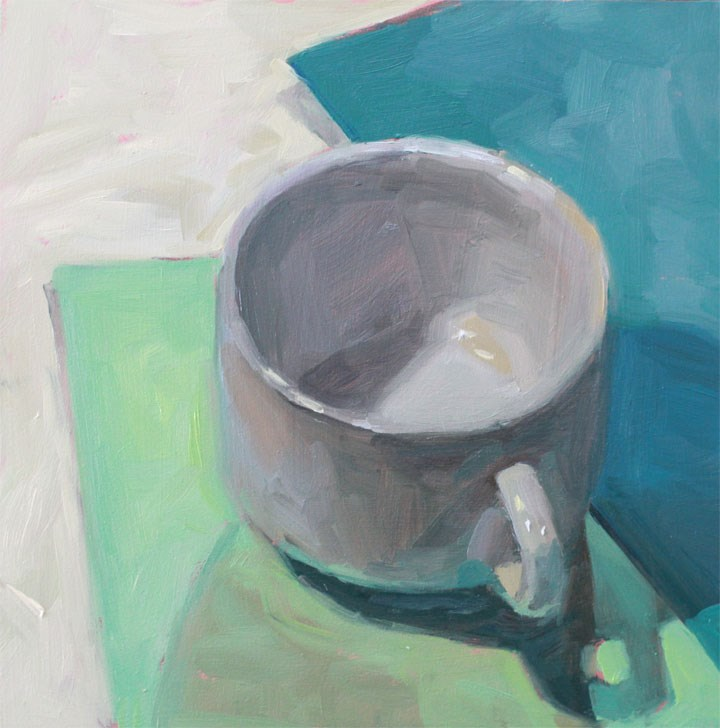 """""""White Cup"""" original fine art by Nealy May Riley"""