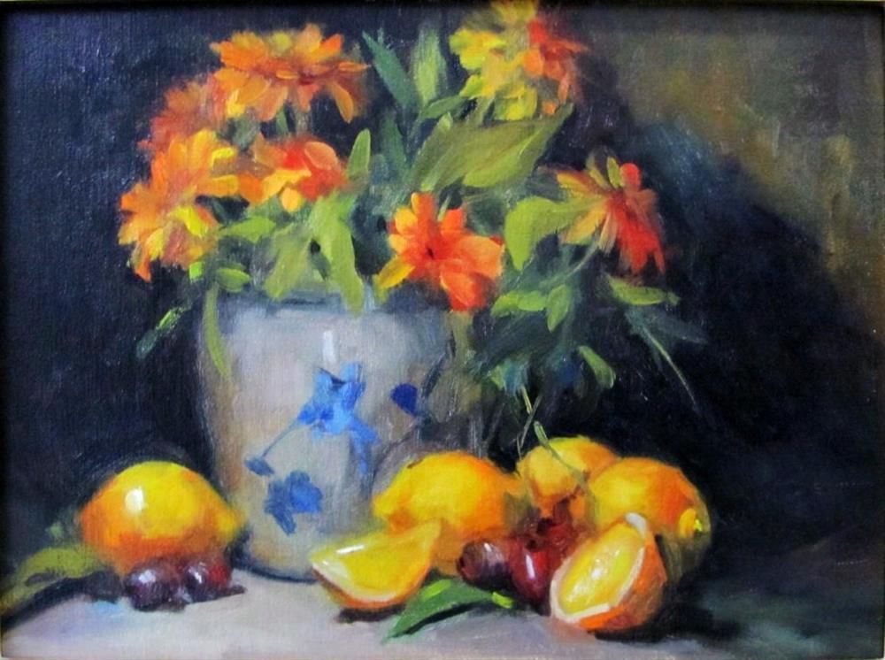 """""""Nancy's Lemons"""" original fine art by Laurie Johnson Lepkowska"""