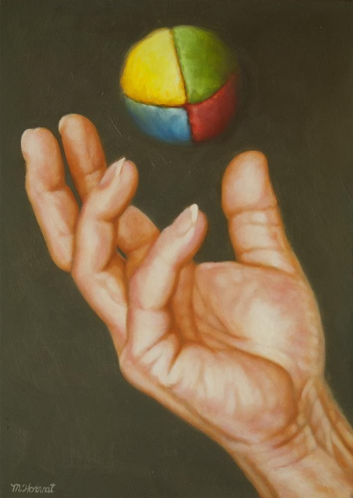 """""""Toss Up"""" original fine art by Margaret Horvat"""