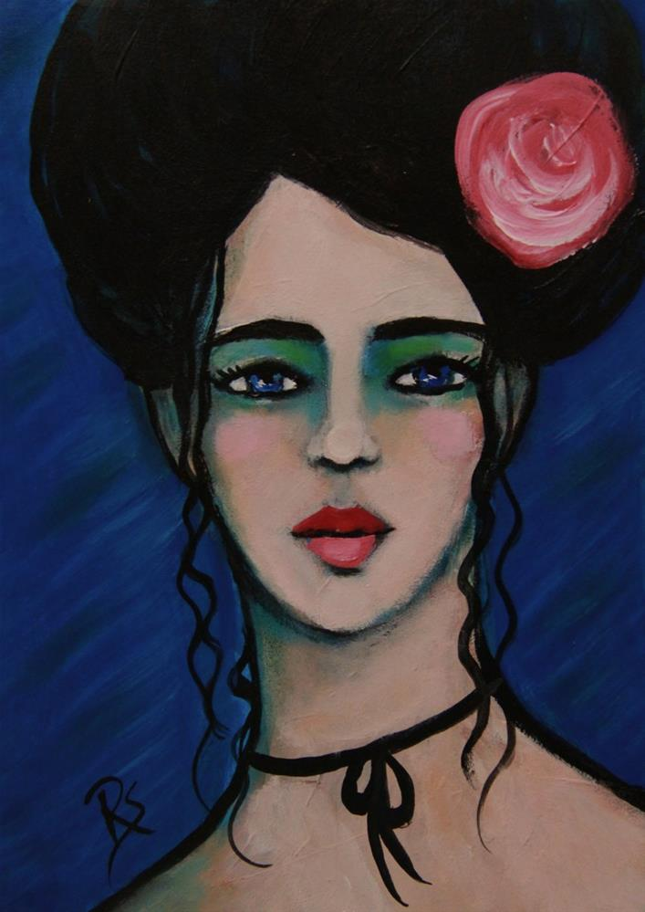 """Sapphire"" original fine art by Roberta Schmidt ArtcyLucy"