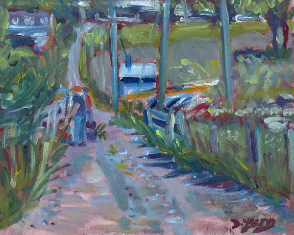 """Artists on the Road"" original fine art by Darlene Young"