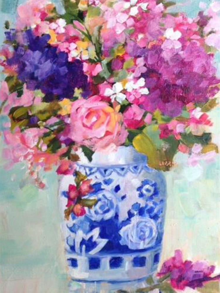 """Something Blue"" original fine art by Libby Anderson"