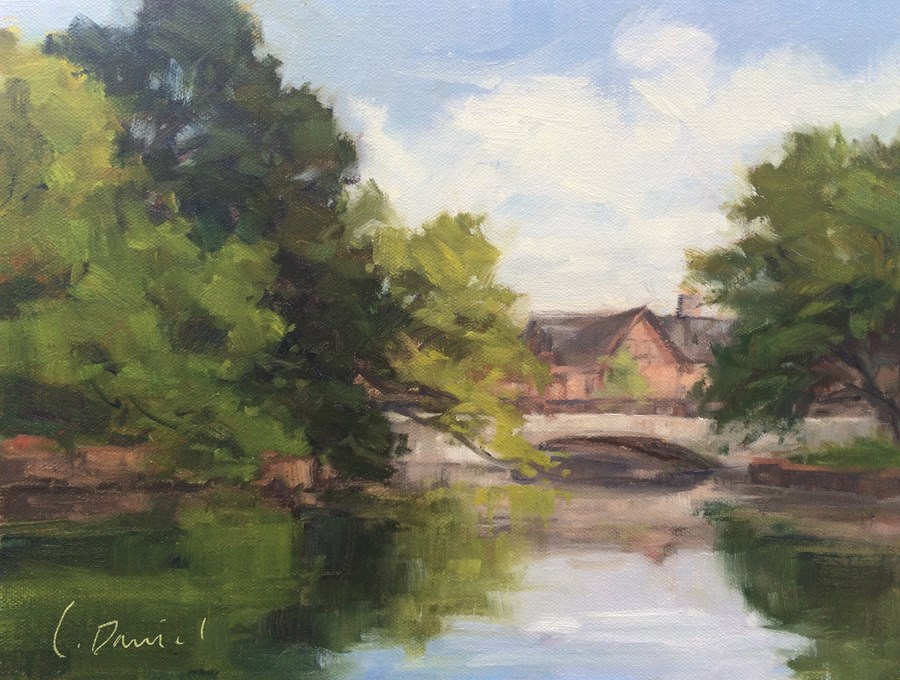 """Bridge on Beverly - Show and Quick Draw"" original fine art by Laurel Daniel"