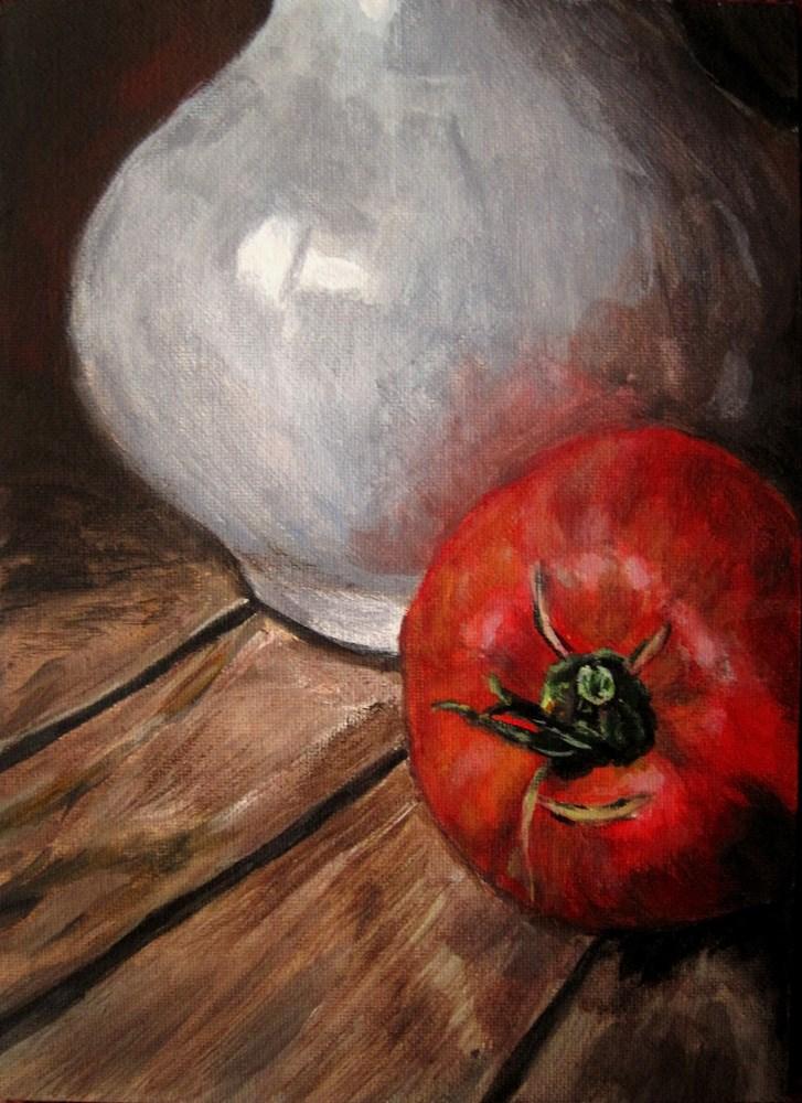 """Oxheart and Vase"" original fine art by Ulrike Miesen-Schuermann"