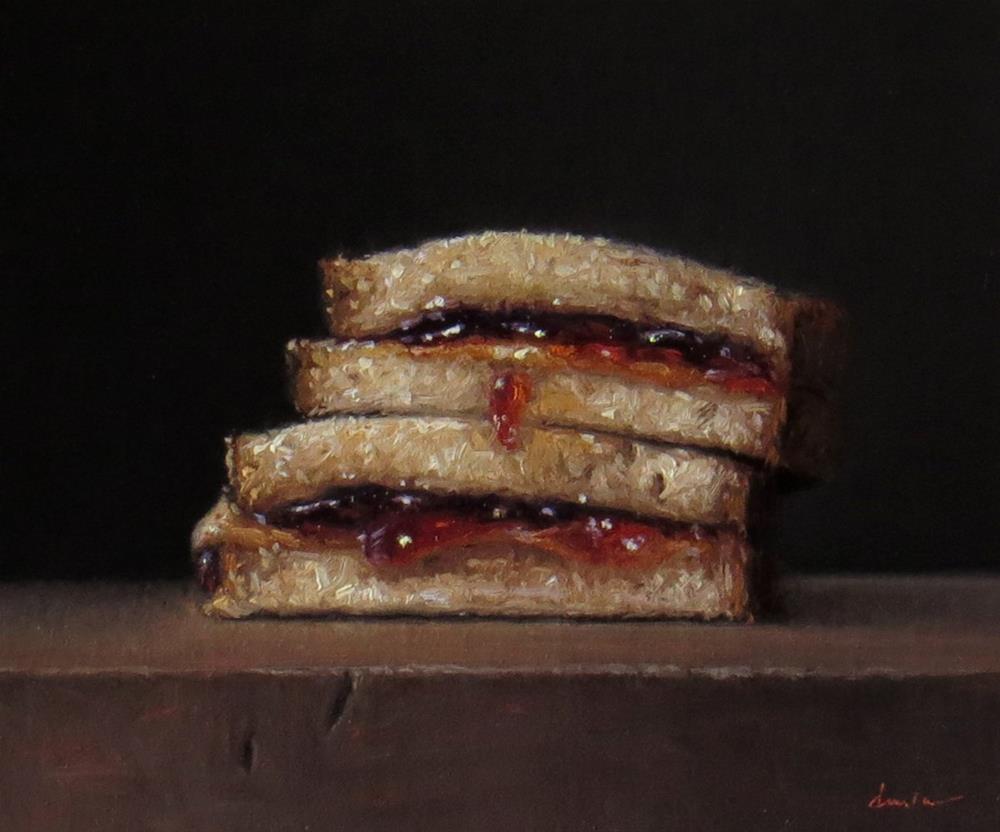 """Peanut Butter and Oklahoma Sand Plum Jelly"" original fine art by Darla McDowell"