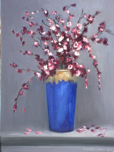 """cherry flowers"" original fine art by Astrid Buchhammer"