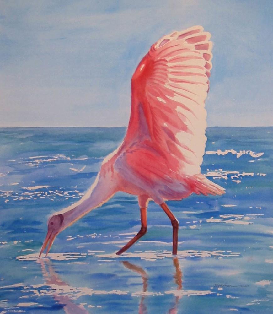 """Glorious Roseate"" original fine art by Patricia Huffman"