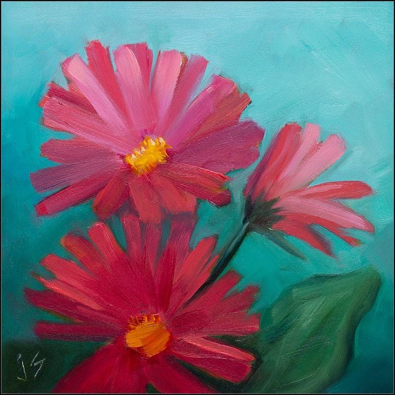 """Gerbera Divas"" original fine art by Johnna Schelling"