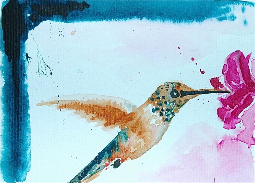 """Humming-bird"" original fine art by Ulrike Schmidt"