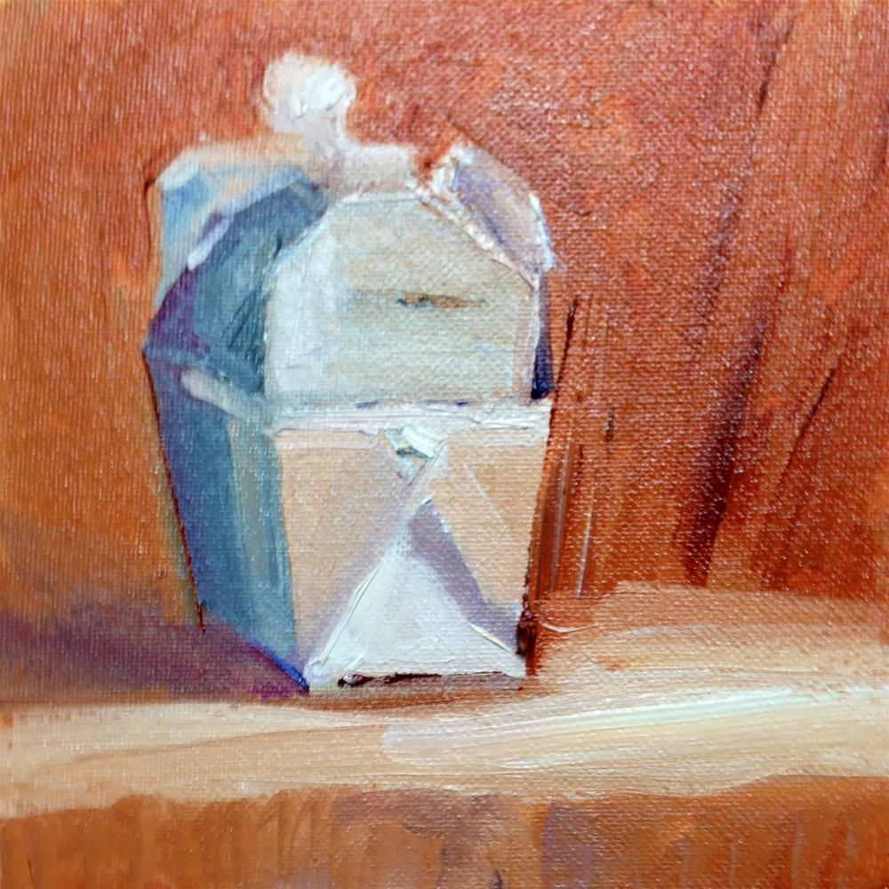 """Out of the Box"" original fine art by Peggy Schumm"