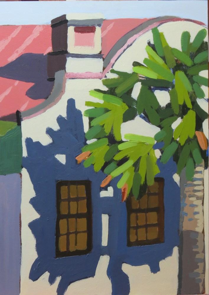 """Charleston Palmetto"" original fine art by Joan Wiberg"