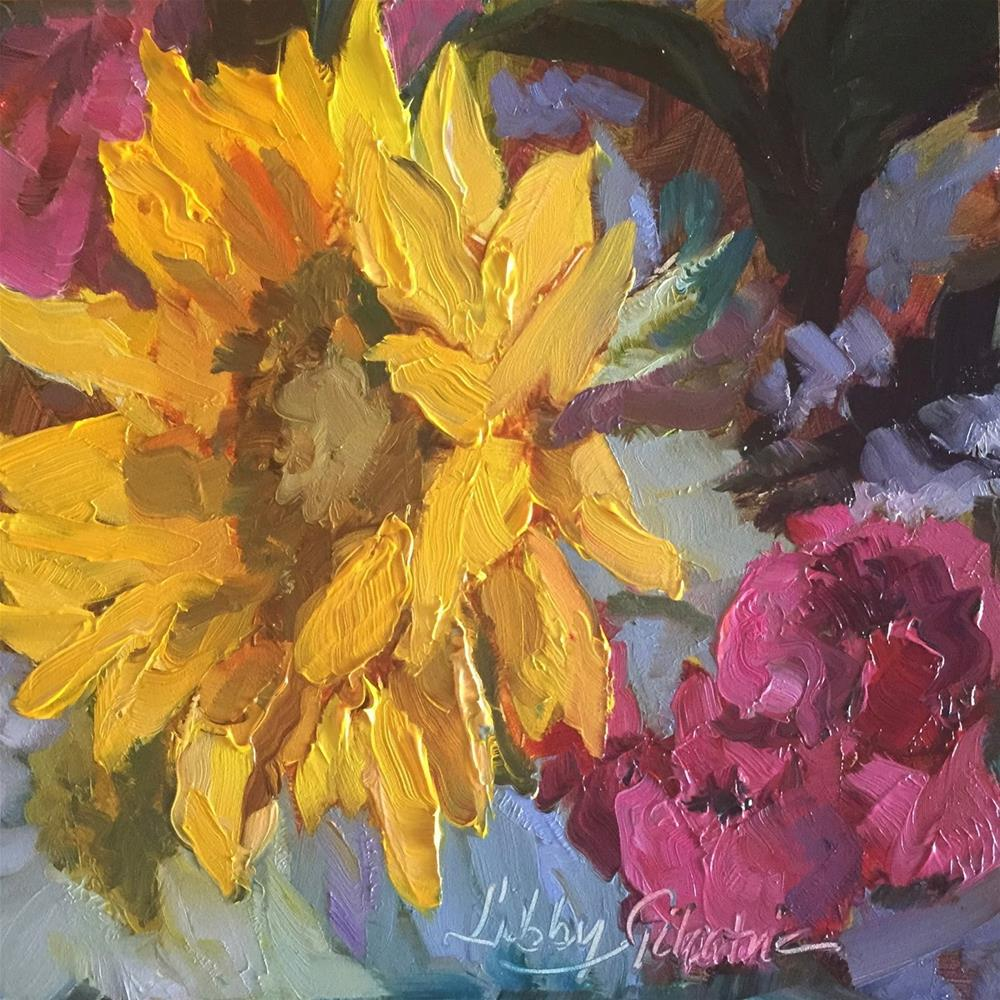 """# 174 Sunflower III"" original fine art by Libby Gilpatric"