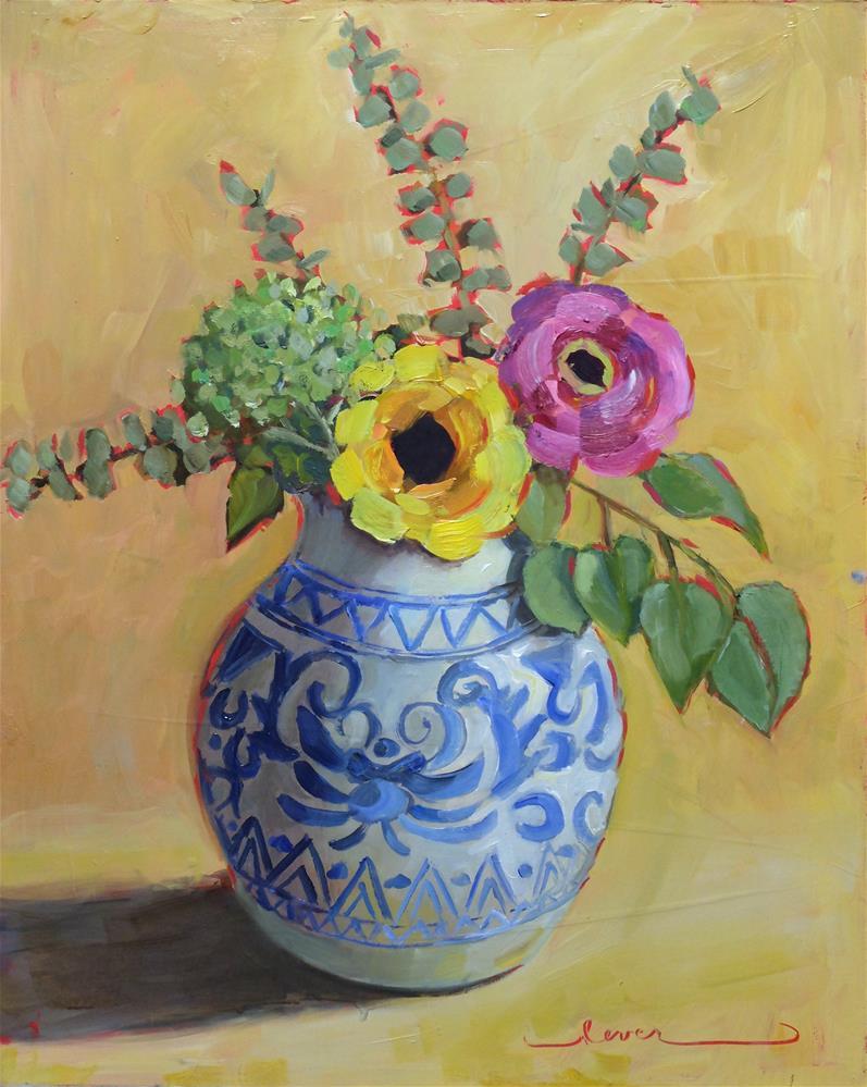 """Blue and Beautiful"" original fine art by Martha Lever"