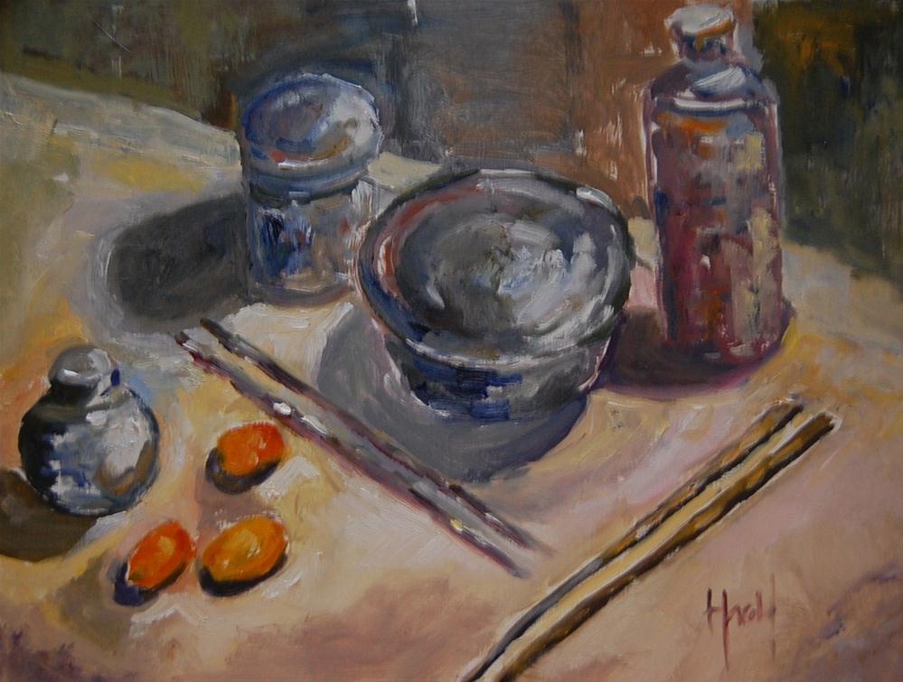 """Abstract Sushi Study"" original fine art by Deborah Harold"