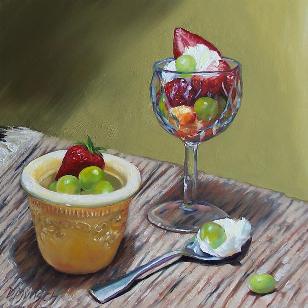 """""""Fruit Salad"""" original fine art by Donna Munsch"""
