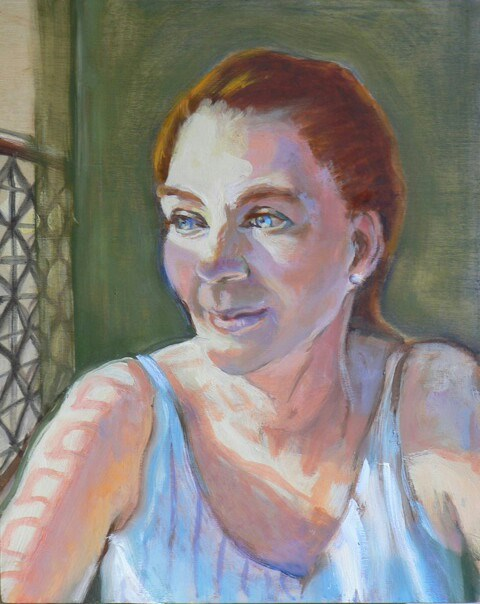 """My Sister Anna"" original fine art by Leigh Buchanan"