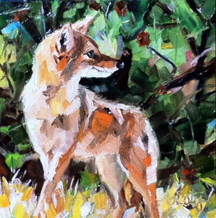 """COYOTE"" original fine art by Kristy Tracy"