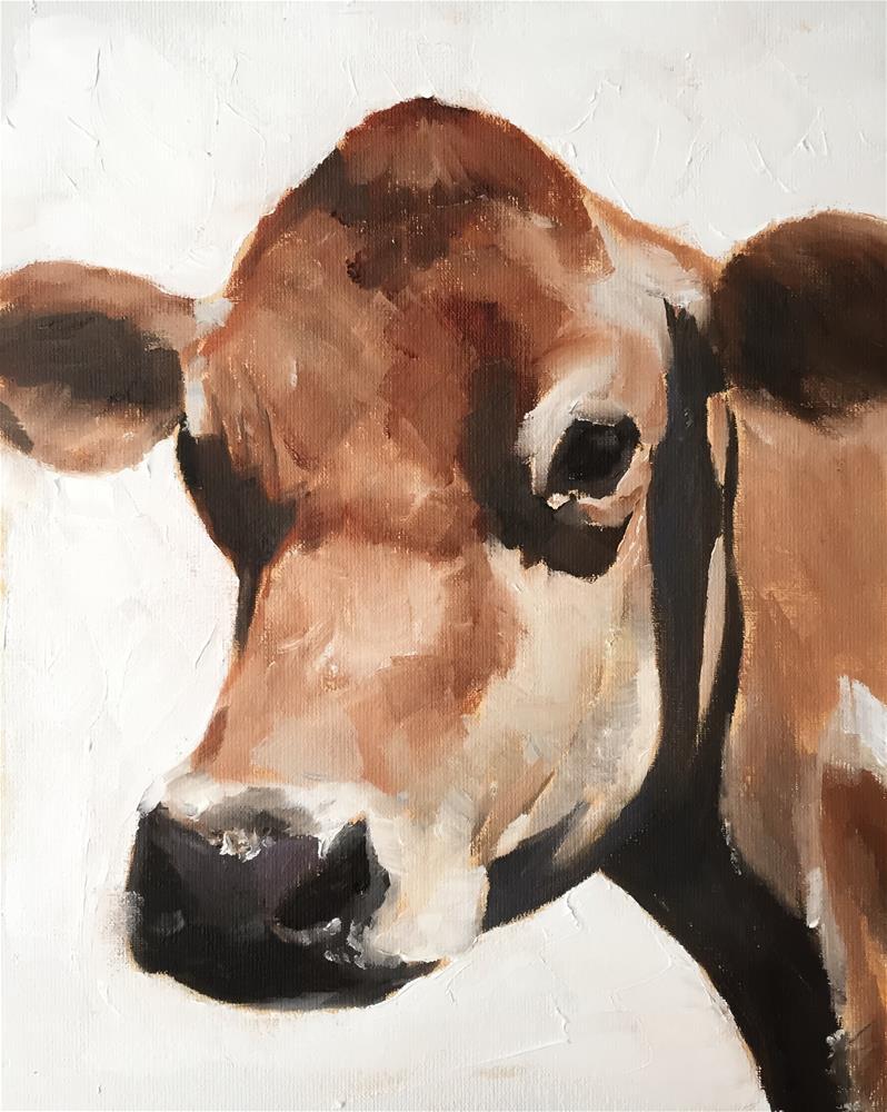 """""""Cow"""" original fine art by James Coates"""
