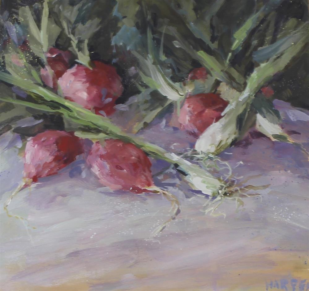 """""""Farmer's Market radish onion still life food art"""" original fine art by Alice Harpel"""