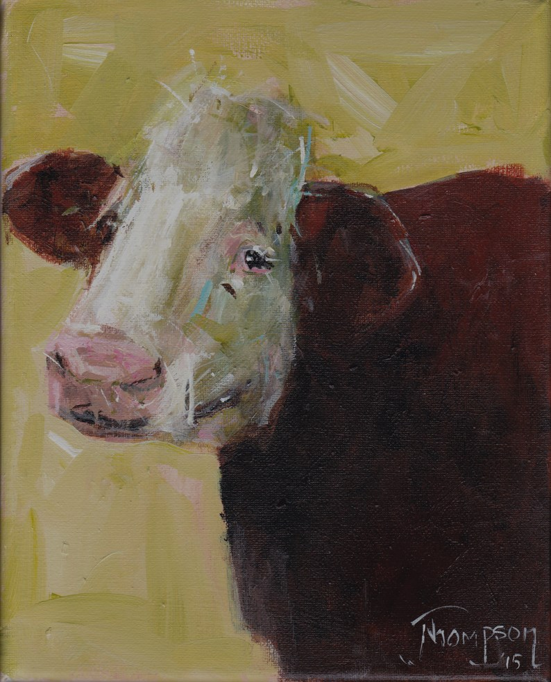 """Just Minding My Business"" original fine art by Norma Thompson"