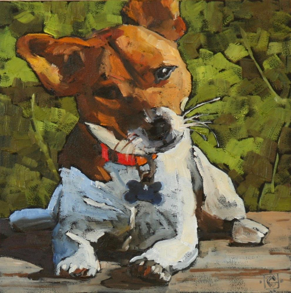 """Curious Jack"" original fine art by Carol Granger"