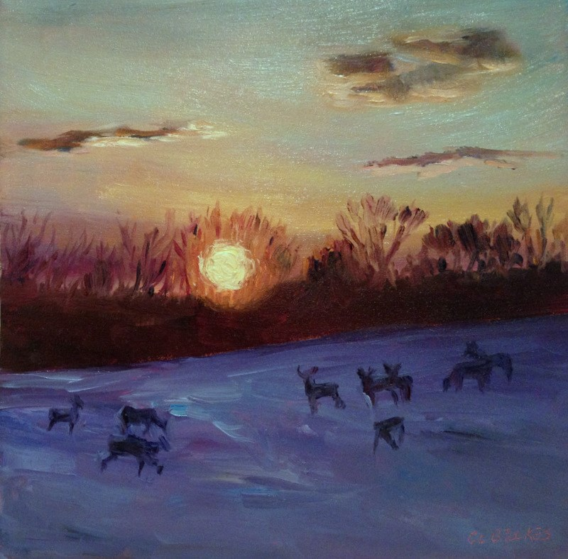 """""""The Home Field, Day 99"""" original fine art by Claudia L Brookes"""