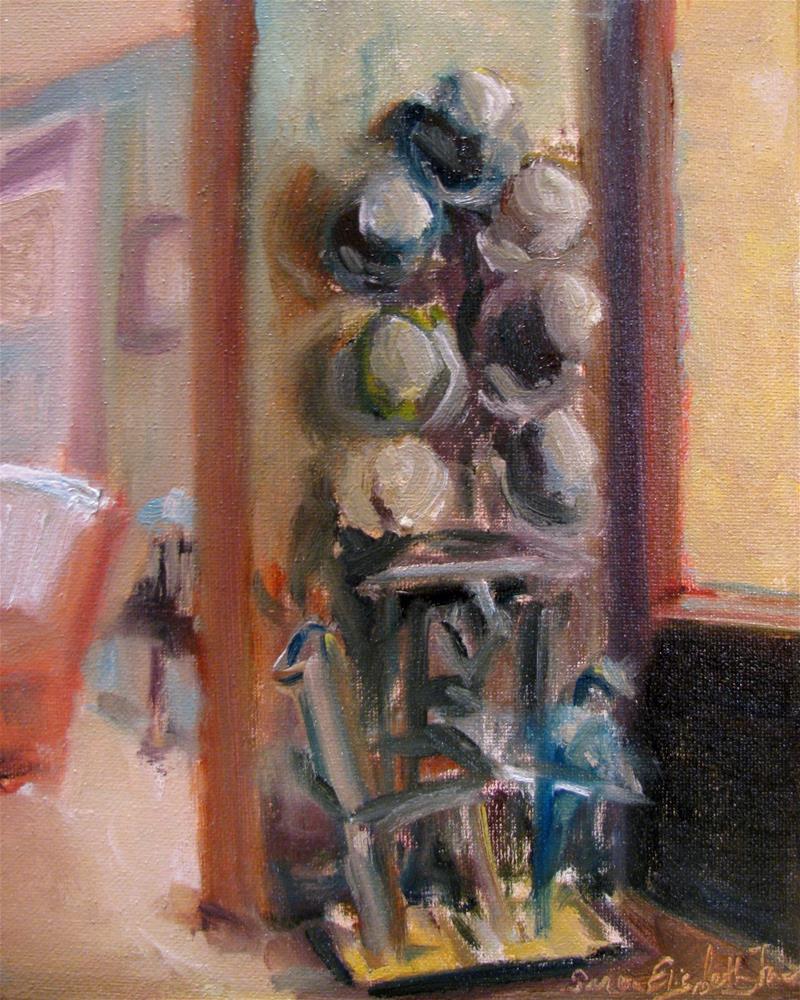 """The Umbrella Stand"" original fine art by Susan Elizabeth Jones"