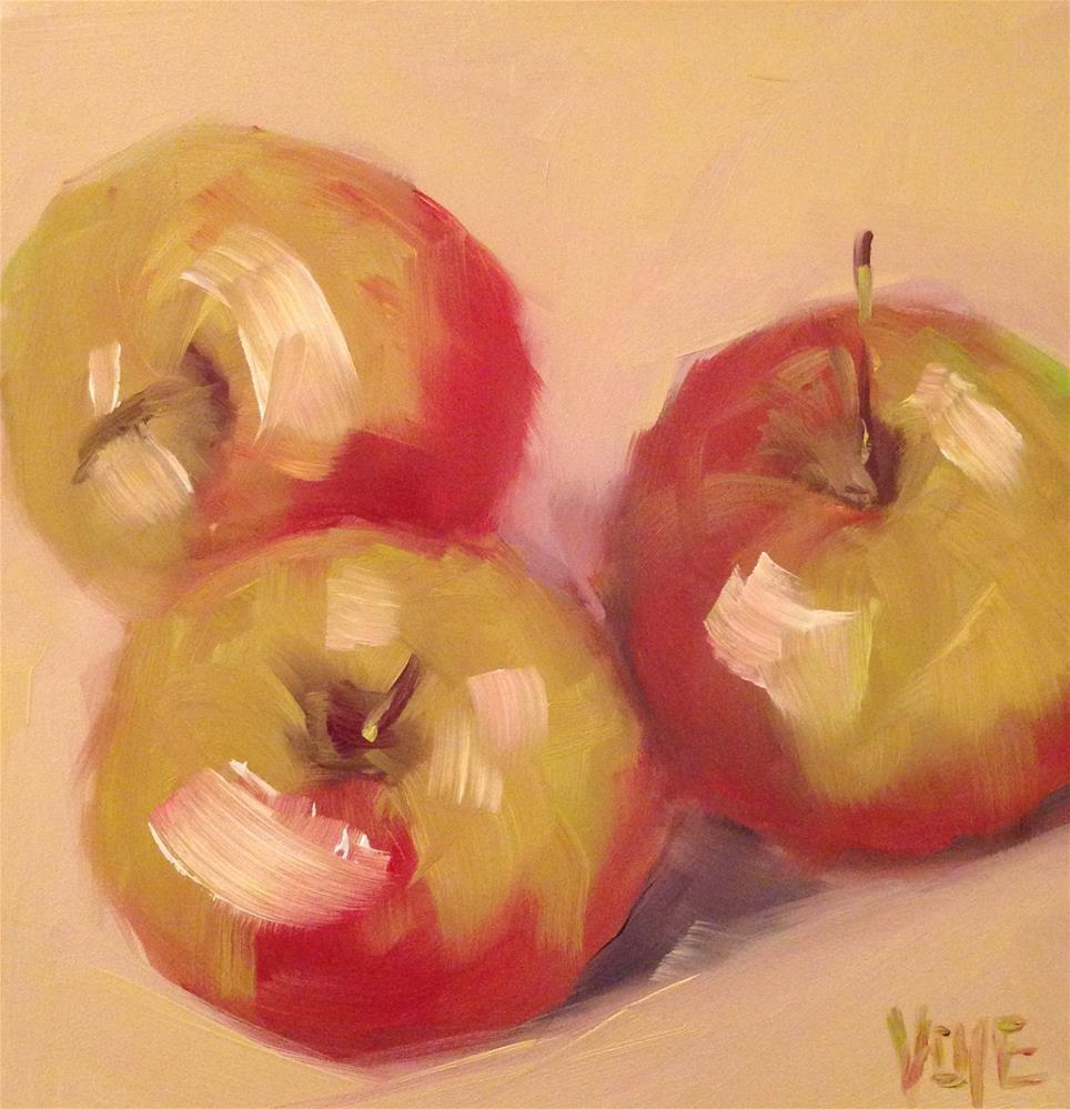 """#44 April Apples #2"" original fine art by Patty Voje"