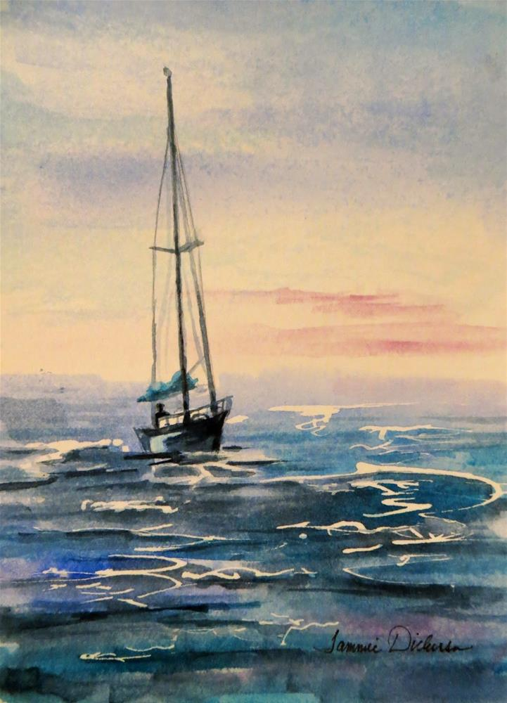 """Sailing Lake Michigan"" original fine art by Tammie Dickerson"