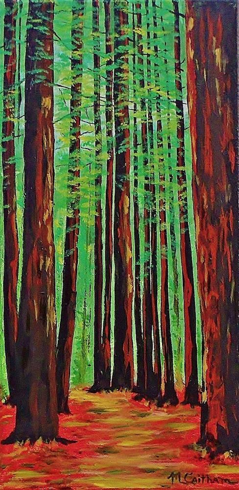 """Redwoods Majestic 2"" original fine art by Mike Caitham"