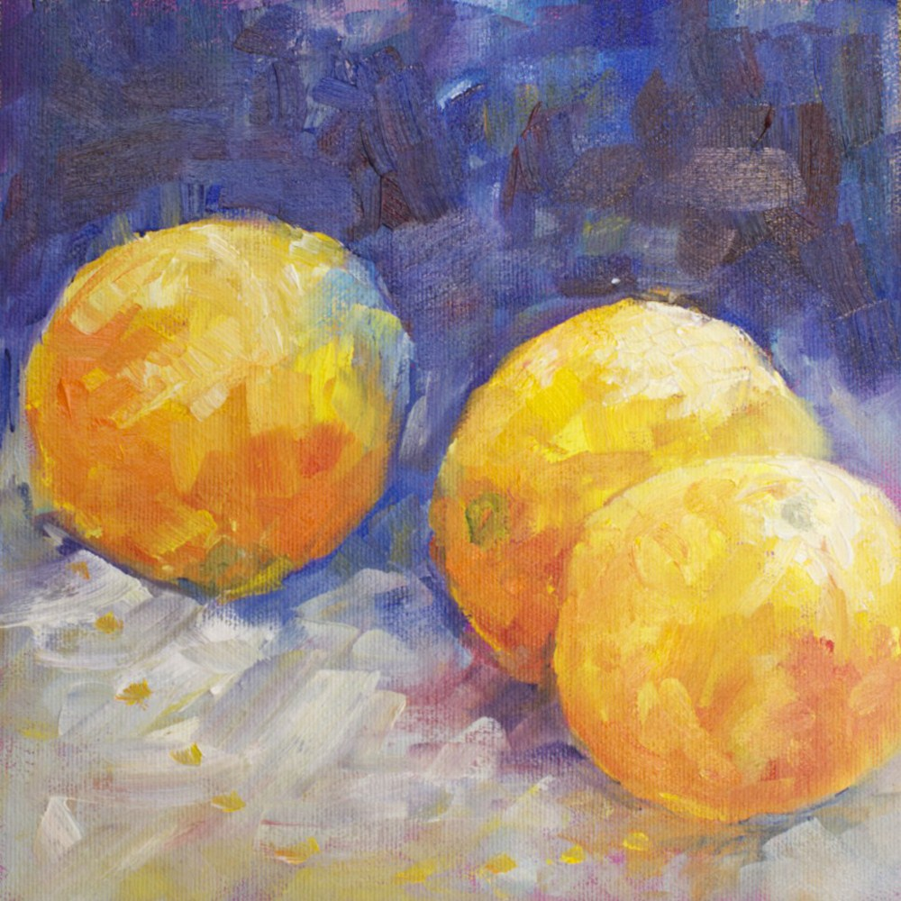 """Orange Study"" original fine art by Sue Churchgrant"